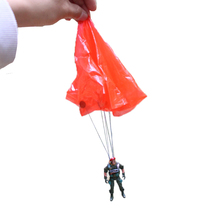 2/10pcs Kids Mounted Special Forces Hand Throwing Mini Play Parachute Toy soldier Classic Novelty Umbrella Outdoor Sports Toys