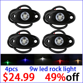 4pcs 9w led rock light