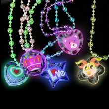 High Quality Trend Creative Luminous Necklace Toys Party Light Up Flashing Cartoon Led Necklace(China)