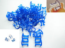 100pcs Cotton Roll Holder Clip Disposable Dental Isolator Tool Clinic