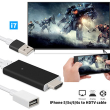 CHeap !  MHL  To HDMI HDTV AV Cable For iPhone 5/5S/6/6S/7 Plus ipad Support HD1080P Connection TV ios10