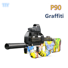 P90 Electronic Auto Fire Toy Gun Plastic Sniper Rifle gun Airsoft crystal bullet Submachinegun toys for Children cool gifts