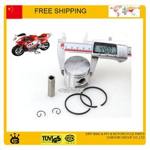 47cc 49cc pocket bike 44mm 40mm piston ring pin set accessories 2 stroke pit mini moto bike atv quad engine gas scooter parts