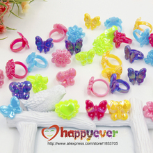 36pcs Assorted Plastic Chunky Rings for Princess Theme Party Favors Giveaways Girls Birthday Goody Bag Kids Reward Prizes Pinata
