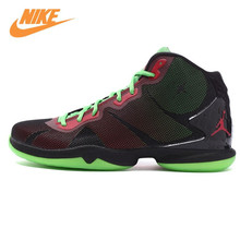 Nike Original New Arrival Authentic Men's Breathable Basketball Shoes Sneakers Yellow Green Black 768929(China)