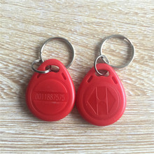 125khz LF TK4100 EM4100 ABS Waterproof Red RFID Keyfob Tag -100pcs