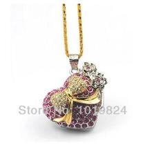 100% real capacity heart love birthday gift necklace diamond jewelry 4GB  USB 2.0 Flash Memory Stick Drive Thumb/Car/Pen S344