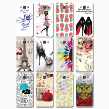 Fashion cartoon  white protective cover Popular pattern hard shell Suitable for Samsung Galaxy A3 A5 A7 2015