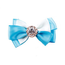 Blue/Pink bowknot Adjustable Dog Cat Pet Tie With Puppy Kitten Necktie Collar crystal jewelry bowtie party dress up neck tie