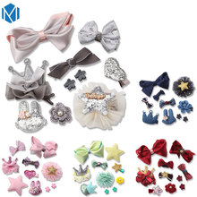 M MISM 10Pcs/Set Christmas Gift Crown Bow Stain Flower Ribbon Hairgrip Cute Hairpins Hair Accessories Set Clip For Girls Kid(China)