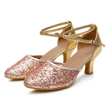 NEW ARRIVAL Women Ladies Ballroom Latin Dance Shoes Indoor Suede Sole Closed Toe Salsa Shoes Tango Dancing Heels