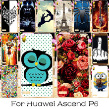 TAOYUNXI Phone Case For Huawei Ascend P6 4.7 Inch Housing Bag Cover Plastic Back Shell For Huawei Ascend P6 Bag Case Cover(China)
