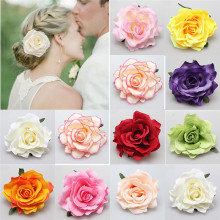1Pc Fashion Women Girls Hair Accessory Fabric Rose Flower Corsage Brooch Child Full Dress Work Wear Hat Flower(China)
