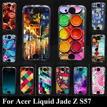 Case For Acer Liquid Jade Z S57 Colorful Printing Drawing Transparent Plastic Phone Cover Soft Silicone tpu mobile Phone Cases(China)