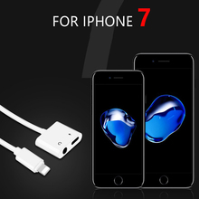 Buy Double Jack Audio Adapter iPhone 7/8/X Support iOS 11 10.3 Charging Music Headphone Audio Adapter Converter Charging for $8.40 in AliExpress store