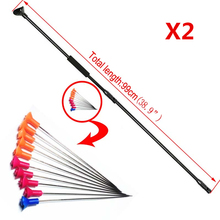 "2Sets Blow Gun M50 Black Version BLOWGUN with Junction Tube and 20pcs arrows blow darts for Outdoor Sports Activities Length 39""(China)"