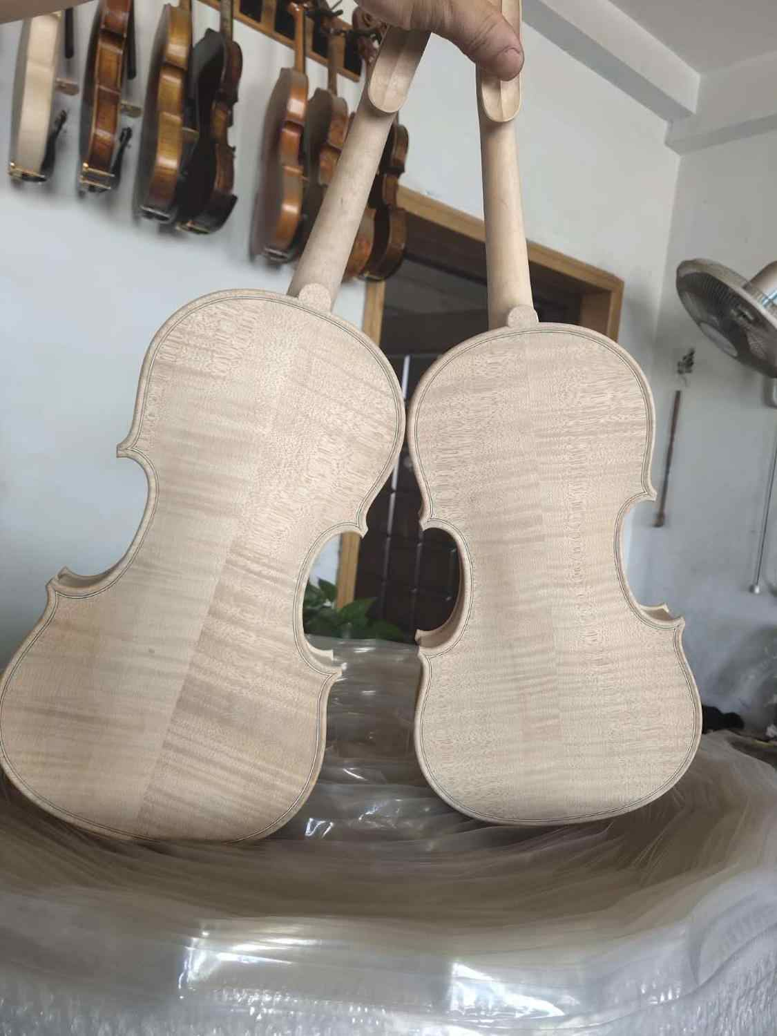 Amati model violin 4//4 size white violin unfinished violin