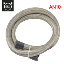 evil energy-1M AN10 Stainless Steel Oil Hose End Fuel Hose Double Braided Fuel Line Universal Car Turbo Oil Cooler Hose 1500 PSI
