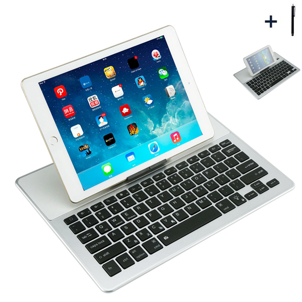 12inch Tablet Universal Wireless Bluetooth Keyboard Case For ASUS Lenovo Huawei Acer 12 Tablet Flip Leather Stand Cover+Stylus<br>
