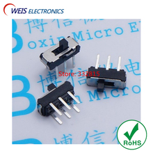 100PCS MSS-22D18 MSS22D18 2P2T 6PINS slide switch Pull switches ON/OFF good quanlity Free shipping