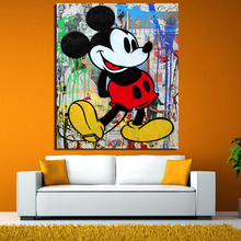 Alec Monopoly Money Donald Duck Lienzo Pintura Cartel de la Pared Pictures For Living Room Decoración Del Hogar Artes Impresión En Lienzo