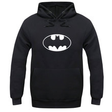 2016 New Autumn Fashion Solid Hoodies men Long Sleeve batman Fleece Hoodies  Pullover Men's Tracksuits Moleton Masculino