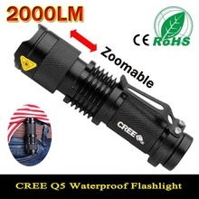 Mini LED Flashlight Waterproof Powerful LED Flashlight Tactical Flashlight 2000 Lumens Zoomable CREE 3 Modes LED Torch Linternas