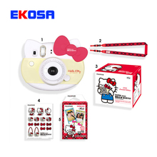 Genuine Fujifilm Instax Mini 8 Camera new style hello kitty camara fotografica instatanea instant Camera red pink Gift packaging