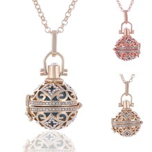 BELLE NOEL 10pcs/lot wholesale Metal Copper Angel Ball Magic Box Perfume Diffuser Pregnant Women Pendant Necklace