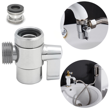 Free shipping brass 3-way diverter valve for kitchen bidet or bathroom basin faucet replacement part shattaf accessories t valve(China)
