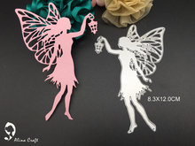 meta cutting dies steel embossing stencils knife template for DIY scrapbook album paper craft light fly fairy with lamp