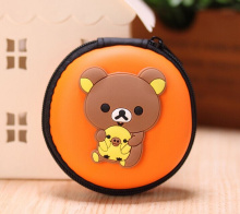 Super Kawaii SAN-X Rilakkuma Bear 7CM Cable Wire Holder BOX Pouch Pocket BAG , Coin Purse BAG & Key BAG , Key Wallet Pouch