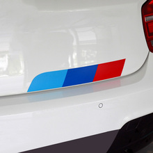 1 Set Mpower Colors German flag Car Tail Sticker Badge Car-styling For BENZ BMW Volkswagen Audi German cars car accessories(China)