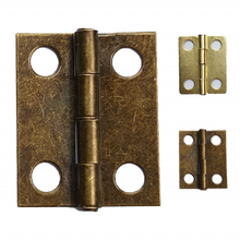 1000pcs/lot 18 *15mm Bronze Brass Hinges Wholesale Wooden Box Hinge Small Hinges for Box Hardware Decoration(China)