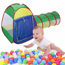 1Pcs Foldable Cubby -Tube--Tube-Teepee 3pc Pop-up Play Tent Children Tunnel  Kids Gifts Outdoor Toy Tents
