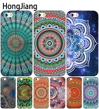 HongJiang mandalas fondos de pantalla cell phone Cover case for iphone 6 4 4s 5 5s SE 5c 6 6s 7 8 plus case for iphone 7 X(China)