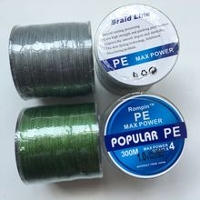 300M PE Braided Fishing Line 4 stands Japan Multifilament 4 Super Strong Carp Colorful Braid Fishing Line grey army green color
