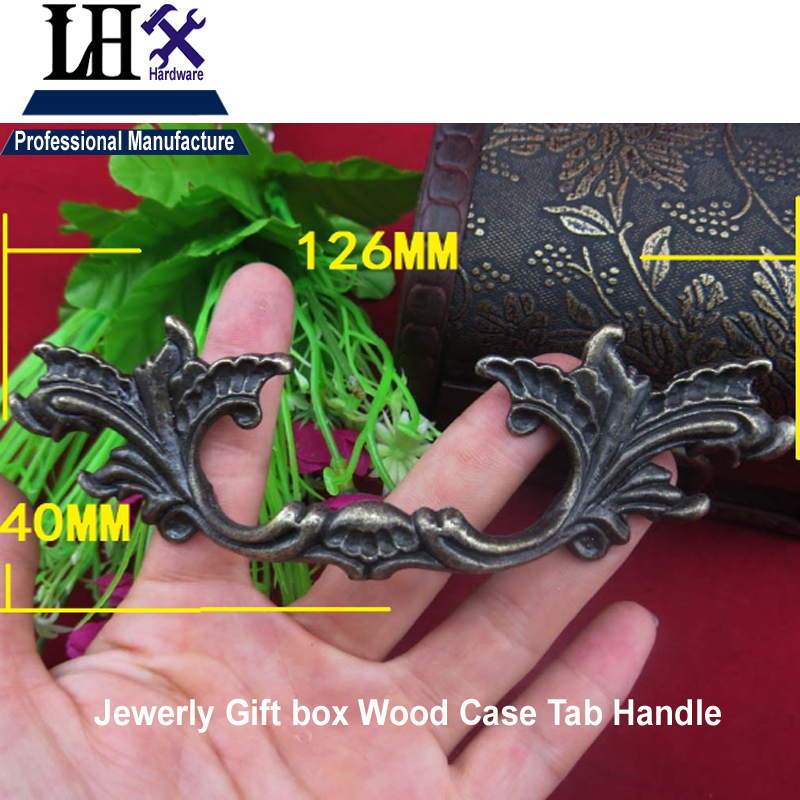LHX Christmas Supplier 2pcs Funiture Handle Tab for Women Jewerly Gift Box Drawer Cabinet Knob Decorative DIY Hardware i<br><br>Aliexpress