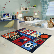 new design kids rugs and carpets for living room sports style printed carpets with multi color for children playroom bedroom mat - Kids Bedroom Mats