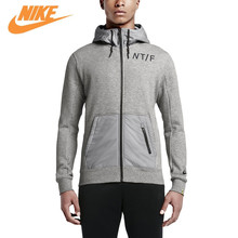 Original Nike Men's Spring New Knitted Breathable Sports Jacket Grey Black 719571-063 719571-010(China)