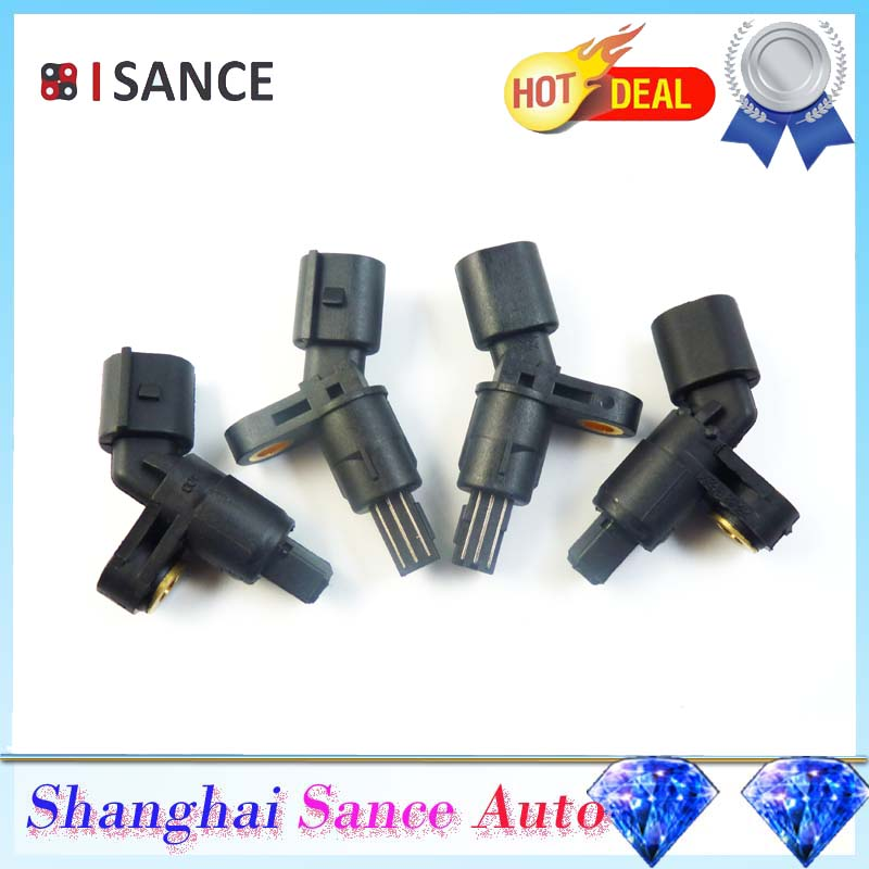 ISANCE Front Rear Left Right ABS Sensor 1J0927803 1J0927804 1H0927807 1H0927808 For VW Bora golf Lupo Caddy Audi A3 Seat Skoda(China (Mainland))