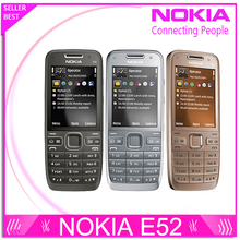 Refurbished E52 Original Nokia E52 WIFI GPS JAVA 3G Unlocked Mobile Phone handset russian keyboard phone Free Shipping(China)
