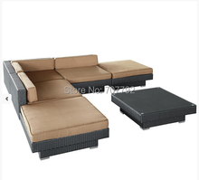 Poolside Outdoor Garden Brown Rattan synthetic rattan outdoor furniture(China)