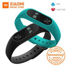 Global Version Xiaomi Mi Band 2 miband 2 Smartband OLED display touchpad heart rate monitor Bluetooth 4.2 fitness tracker(China)
