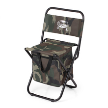 Camouflage Folding Fishing Chair Seat Outdoor Camping for Festival Picnic BBQ Beach 28 * 28 * 59cm Fishing Breathable Stool