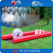 1 zorb+6  pins+1court,giant  inflatable  bowling ball pins set human zorb bowling sports games