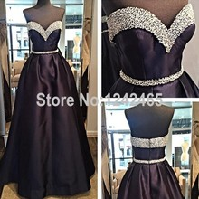 A Line Sweetheart Beaded Formal Evening Dress Long Floor Length Actual Image Indian Evening Gowns Shop Online QM151
