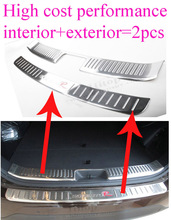 for Kia Sorento 2013 2014 rear door sill/ trunk scuff plate/rear bumper protector,2pcs, promotion price, earn little