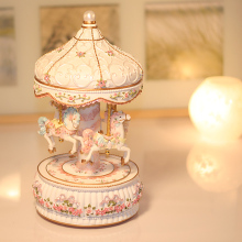 Lantern carousel music box music box light birthday girl the Qixi Festival gift.
