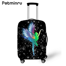 Petminru Ballet Girl Case Cover Elastic Luggage Protective Cover with Zipper Suit For 18-28inch Trunk Case Travel Suitcase Cover(China)